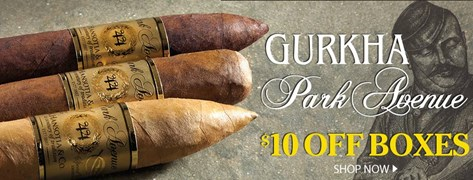 $10 Off Gurkha Park Avenue Boxes