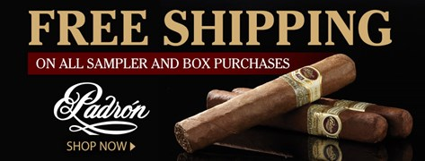 FREE Shipping on Padron Sampler and Box Purchases