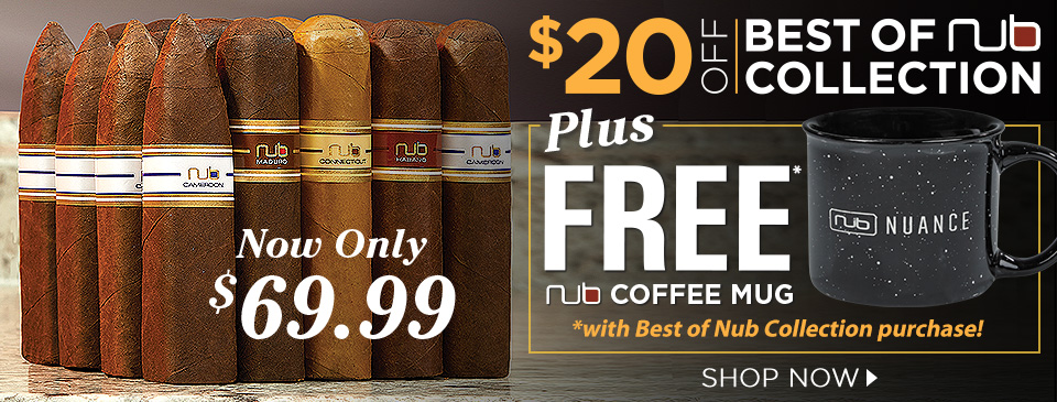 $20 OFF Best of Nub Collection + FREE Nub Coffee mug w/ your purchase!