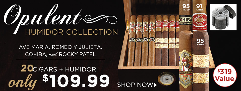 20 Top-Shelf Cigars and a Humidor for Only $109.99!