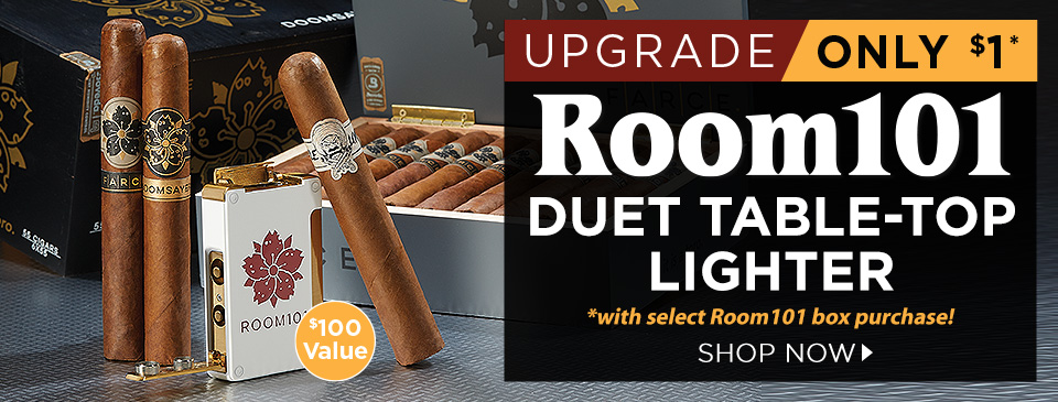 Room101 Duet Table-Top Lighter only $1 more w/ select Room101 box purchase!