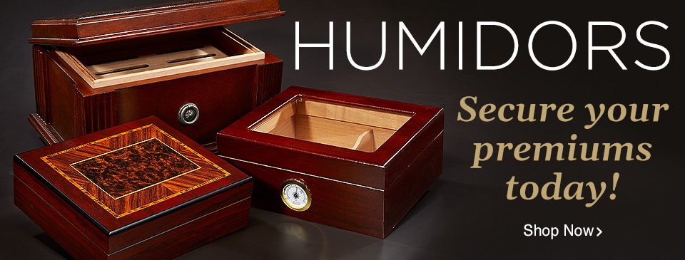 Shop our Humidors today and secure your premium cigars!