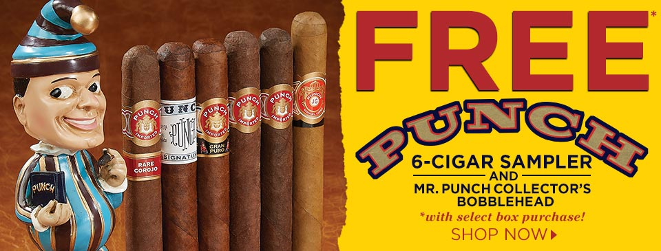 FREE Punch Cigar Sampler + Bobblehead