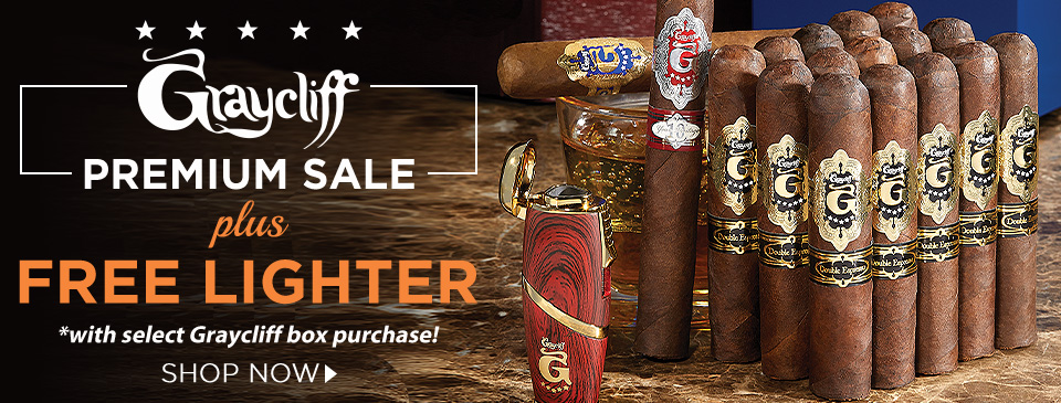 Enter the Graycliff Premium Sale and score a FREE Lighter with your select Graycliff Premium Sale purchase!