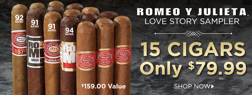 Love at First Puff! 15 of Romeo y Julieta's Best Cigars Just $79.99