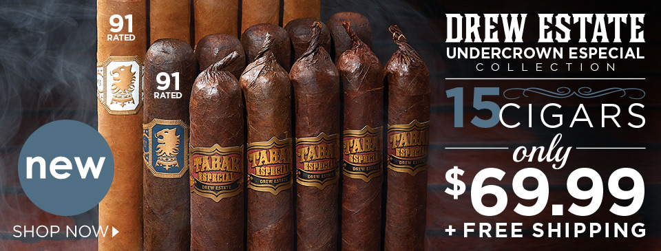 Drew Estate's Undercrown Especial Collection - 15 Cigars only $69.99 + FREE SHIPPING!