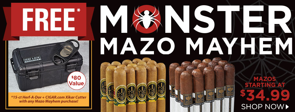 Mazos at Monster Discounts Plus a FREE 15-count Herf-a-Dor and cutter!