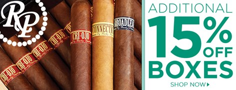 We're taking an additional 15% OFF Rocky Patel boxes!