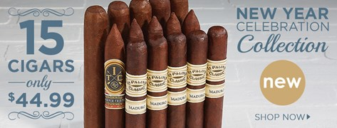 New Year Celebration Collection - 15 Cigars only $44.99!