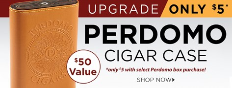 Perdomo Cigar Case only $5 w/ select Perdomo box purchase!