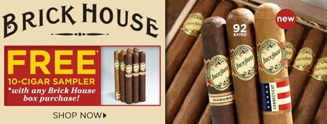 FREE Brick House 10-Cigar Sampler