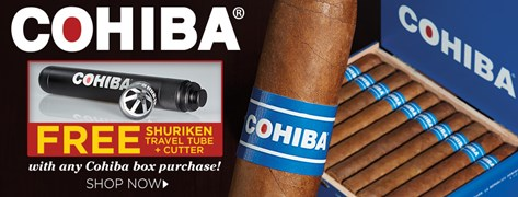 FREE Cohiba Shuriken Travel Tube + Cutter