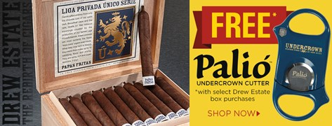 FREE Undercrown Palio Cutter w/ Select Drew Estate Box Purchases