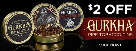 $2 Off Gurkha Pipe Tobacco Tins