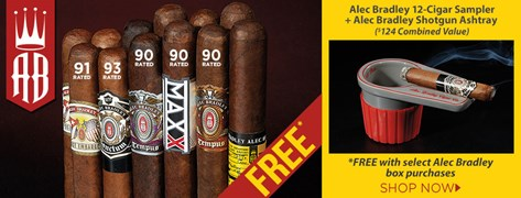FREE Alec Bradley 12-Cigar Sampler + Ashtray!