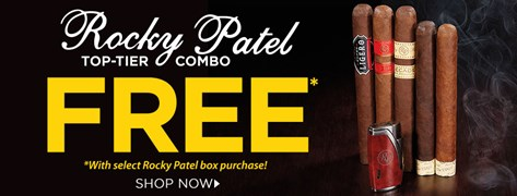 5 FREE Rocky Patel Cigars Plus Lighter w/ Select Rocky Patel Box Purchases