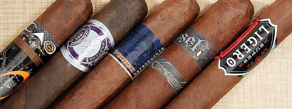 Rocky Patel Super Ligero, Diesel Heart of Darkness, Punch Bareknuckle, Partagas 1845 Extra Oscuro, CAO Cigars Extreme