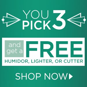 You Pick 3 - 15 Cigars + Free Item