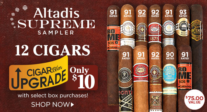Enjoy a Dozen Legendary Cigars for $10 w/ Select Box Purchases.