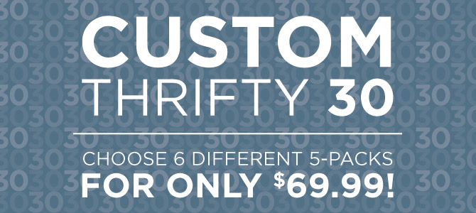 Custom Thrifty Thirty Sampler