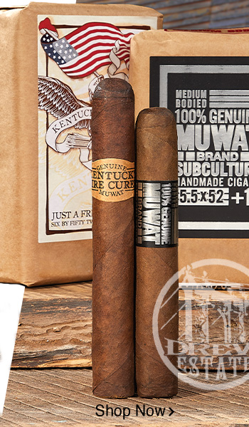 Drew Estate Kentucky Fire-Cured and My Uzi Weighs A Ton cigars  - Shop Now!