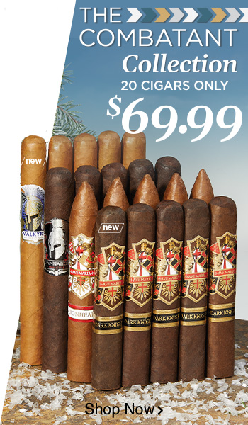 The Combatant Collection - 20 Cigars only $69.99 - Shop Now!