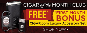Cigar of the Month Club First Month Bonus: FREE CIGAR.com Luxury Accessory Set