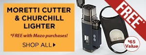 FREE Moretti Lighter + Cutter Combo w/ select Mazo purchases!