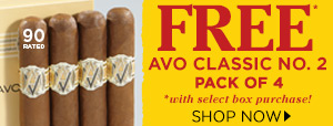 FREE AVO Classic No. 2 w/ Select Box Purchase!