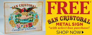 FREE San Cristobal Metal Sign
