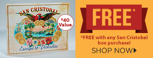 FREE San Cristobal Metal Bar Sign w/ box purchase!