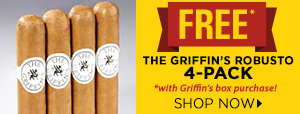 4 FREE The Griffin's Robusto Cigars w/ Griffin's Box Purchases!