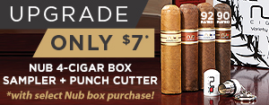 Nub 4-Cigar Box Sampler + Punch Cutter only $7 w/ select Nub box purchase!