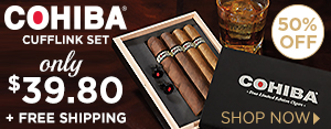 Cohiba Cufflink Set only $39.80 + FREE Shipping w/ your purchase!