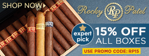 15% OFF Rocky Patel Boxes