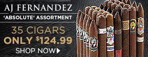AJ's 'Absolute' Assortment - 35 Cigars only $124.99 - Shop Now!