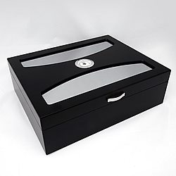 The Delano UV Glass Top Humidor [BLACK]