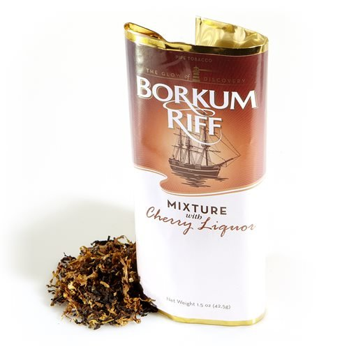 Borkum Riff Cherry Liquor Pipe Tobacco Packaged Pipe Tobacco