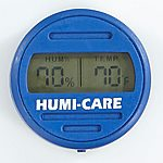 HUMI-CARE Blue Round Digital Hygrometer