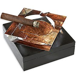 Tobacco Leaf Crystal Ashtray
