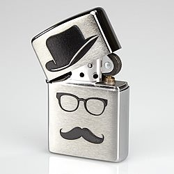 Zippo Lighter - Mustache and Hat