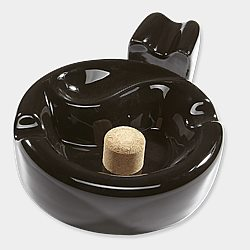 1 Pipe Ashtray with Knocker & Cigar Rest