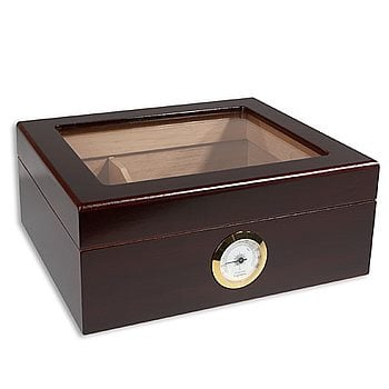 Search Images - Whitetail Glasstop Humidor  50 Cigar Capacity
