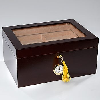 Search Images - Whitetail II Glasstop Humidor  100 Cigar Capacity