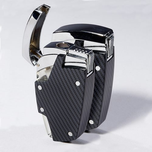 Moretti Carbon Fiber Jet Torch Lighter Set of 2