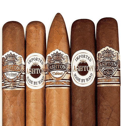 Ashton Variety Gift Box of 5 Cigar Samplers