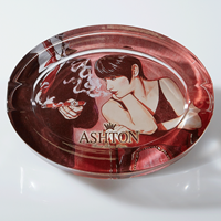 Ashton Crystal Ashtray + $25 CCOM Cash  Cigar Accessory Sampler
