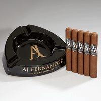 AJ Fernandez + Ashtray Combo  5 Cigars + 3-Finger Ashtray