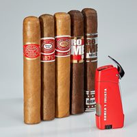 Romeo y Julieta 5-Cigar Sampler + Torch  5 Cigars + Torch
