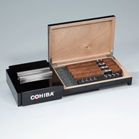 Cohiba Sliding Humidor/Ashtray Gift Set Cigar Accesories